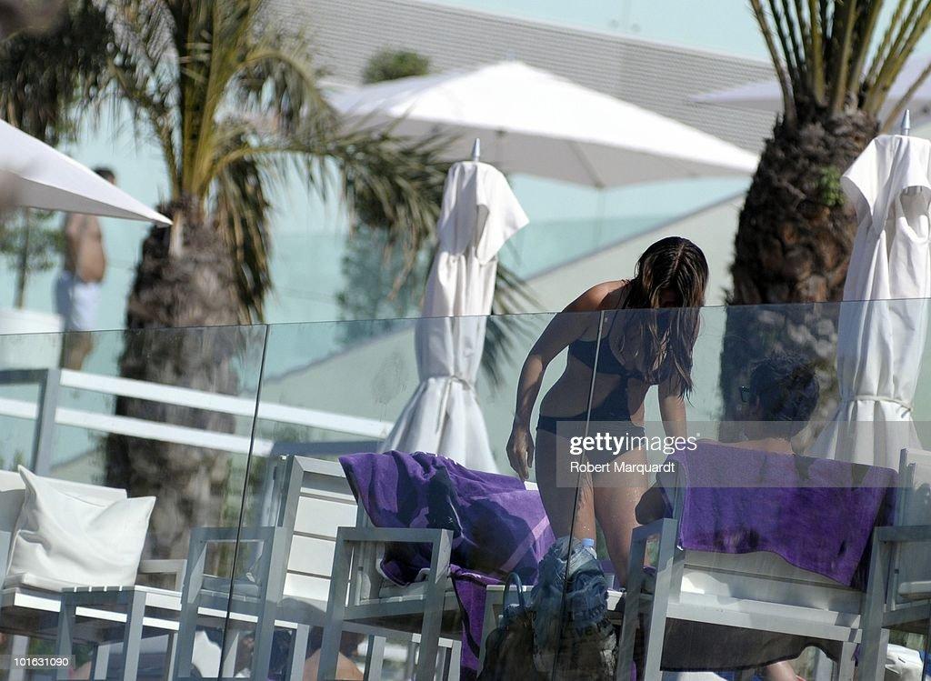 Elena Furiase sighting on May 23, 2010 in Barcelona, Spain.