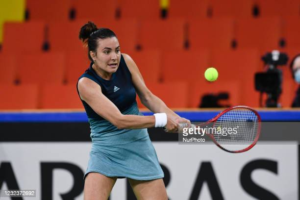 Elena Gabriela Ruse, player of team Romania during the match against Jasmine Paolini, italian player during the Billie Jean King cup in Cluj-Napoca,...