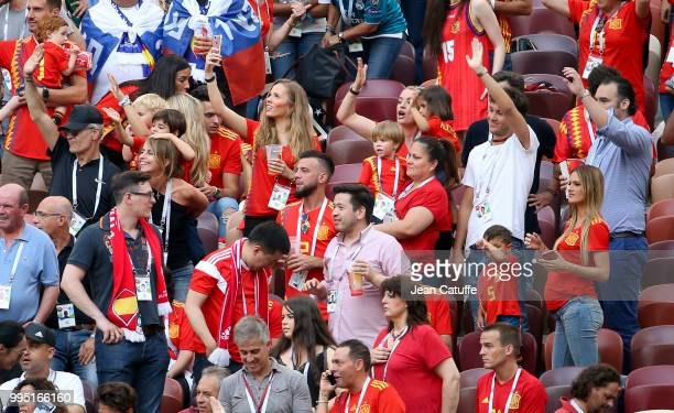 Elena Galera Moron wife of Sergio Busquets of Spain with wives and girlfriends of Spanish players during the 2018 FIFA World Cup Russia Round of 16...