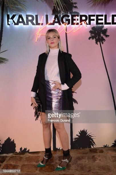 Elena Galifa attends the launch of the Karl x Kaia collaboration capsule collection on October 2 2018 in Paris France