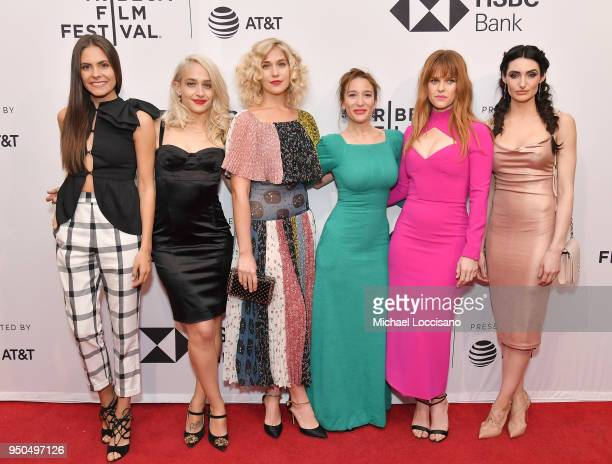 Elena Ghenoiu Jemima Kirke Lola Kirke Emma Forrest Alice Eve and Chloe Catherine Kim attend the screening of Untogether during the 2018 Tribeca Film...