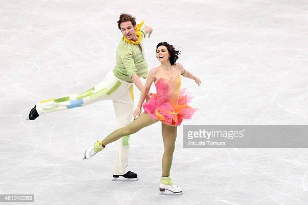 Elena Ilinykh and Nikita Katsalapov of Russia compete in the Ice Dance Free Dance during ISU World Figure Skating Championships at Saitama Super...
