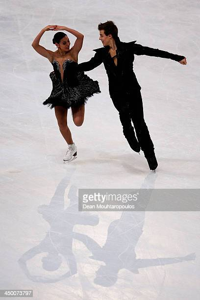 Elena Ilinykh and Nikita Katsalapov of Russia perform in the Ice Dance Free Dance during day two of Trophee Eric Bompard ISU Grand Prix of Figure...