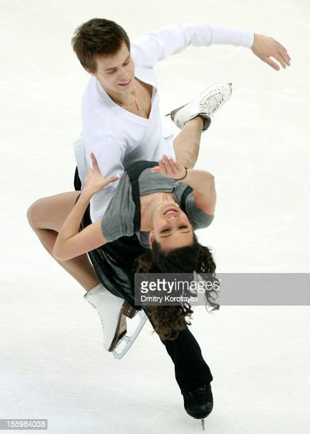 Elena Ilinykh and Nikita Katsalapov of Russia skate in the Ice Dance Free Dance Skating during ISU Rostelecom Cup of Figure Skating 2012 at the...