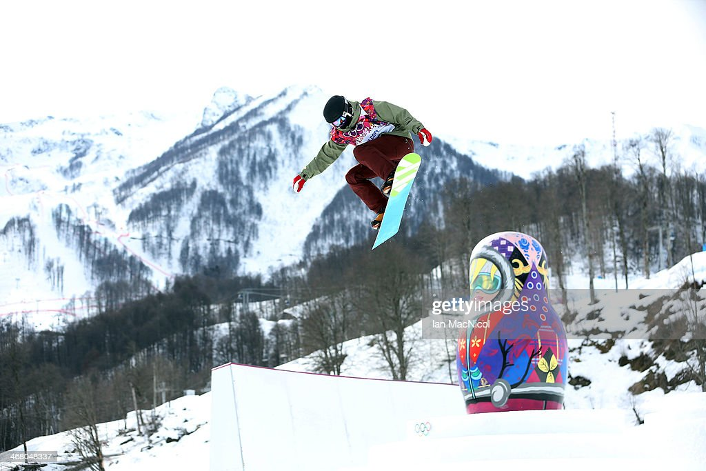 Elena Koenz of Switzerland competes during the Snowboard Women's Slopestyle Final during day 2 of the Sochi 2014 Winter Olympics at Rosa Khutor Extreme Park on February 9, 2014 in Sochi, Russia.