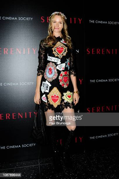 Elena Kurnosova attends Aviron Pictures With The Cinema Society Host A Special Screening Of Serenity at Museum of Modern Art on January 23 2019 in...