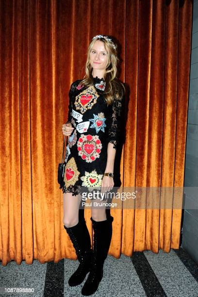 Elena Kurnosova attends Aviron Pictures with The Cinema Society host the after party for Serenity at Magic Hour Rooftop Bar Lounge on January 23 2019...