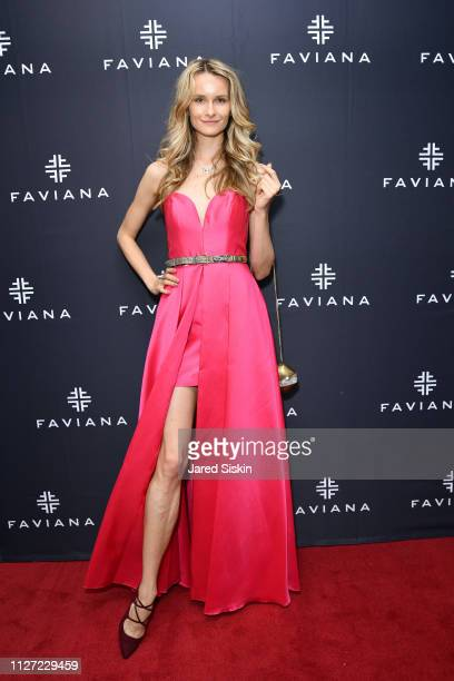 Elena Kurnosova attends Faviana's Annual Oscars Red Carpet Viewing Party on February 24 2019 at 75 Wall St in New York City