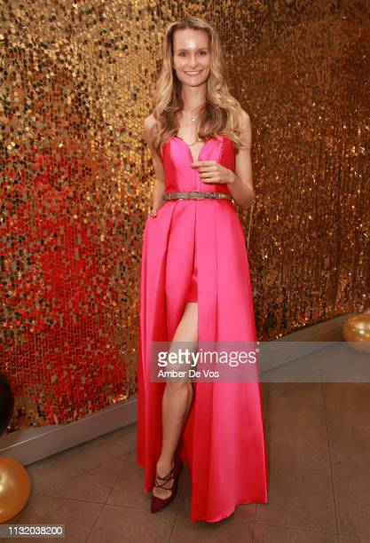Elena Kurnosova attends Faviana's Annual Oscars Red Carpet Viewing Party on February 24 2019 in New York City