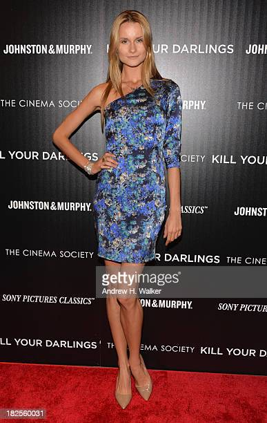 Elena Kurnosova attends The Cinema Society and Johnston Murphy screening of Sony Pictures Classics' Kill Your Darlings at Paris Theater on September...