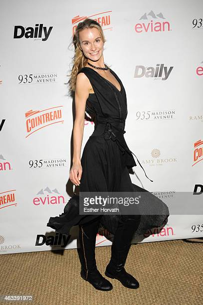 Elena Kurnosova attends The Daily Front Row's 2015 Model Issue reception during New York Fashion Week Fall 2015 at Beautique on February 13 2015 in...