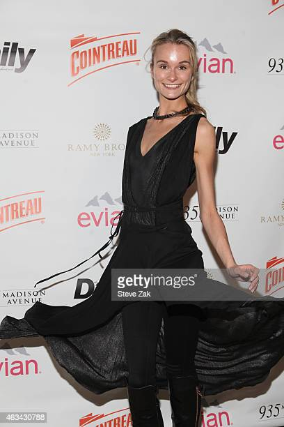 Elena Kurnosova attends The Daily Front Row's 2015 Model Issue reception during New York Fashion Week Fall 2015>> at Beautique on February 13 2015 in...