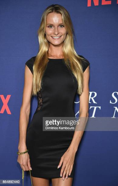Elena Kurnosova attends the Netflix Hosts The New York Premiere Of Our Souls At Night at The Museum of Modern Art on September 27 2017 in New York...