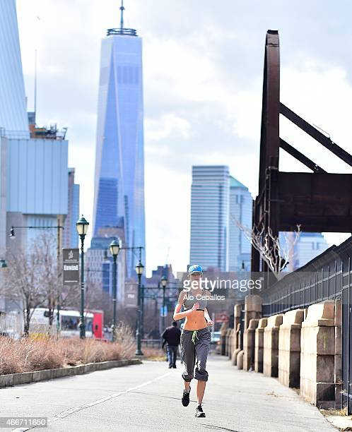 Elena Kurnosova is seen along the West Side Highway on March 18 2015 in New York City
