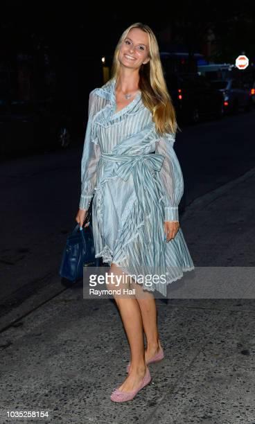 Elena Kurnosova is seen walking in soho on September 17 2018 in New York City