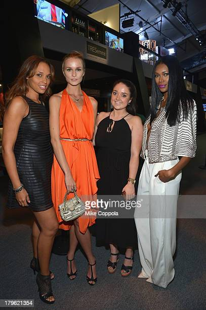 Elena Kurnosova Jessica White and guests attend the MercedesBenz Star Lounge during MercedesBenz Fashion Week Spring 2014 at Lincoln Center on...