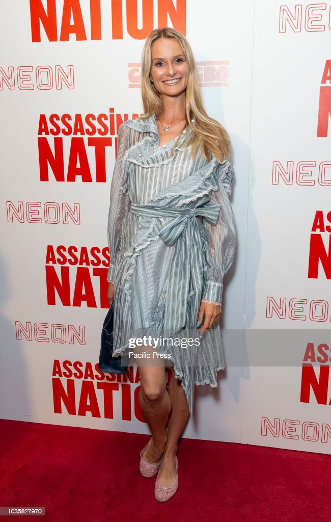 Elena Kurnosova wearing dress by Zimmermann attends premiere... : News Photo