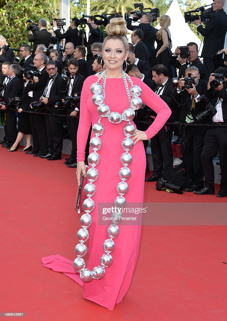 Elena Lenina attends the 'Mr.Turner' Premiere at the 67th Annual Cannes Film Festival on May 15, 2014 in Cannes, France.