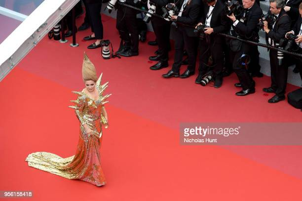 Elena Lenina attends the screening of Everybody Knows and the opening gala during the 71st annual Cannes Film Festival at Palais des Festivals on May...
