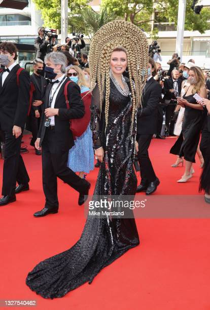 """Elena Lenina attends the """"Tout S'est Bien Passe """" screening during the 74th annual Cannes Film Festival on July 07, 2021 in Cannes, France."""