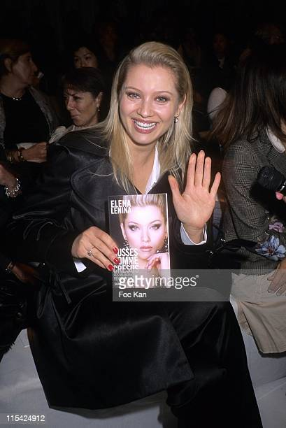 Elena Lenina during Paris Fashion Week Spring/Summer 2007 Jean Louis Scherrer Front Row and Backstage at Carrousel Du Louvre in Paris France