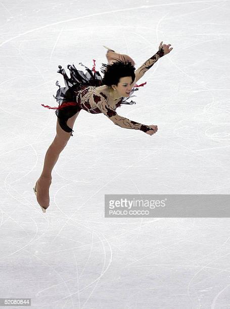 Elena Liashenko of Ukraine performs during the free skating final at the European Figure Skating Championships in Turin 29 January 2005. Irina...