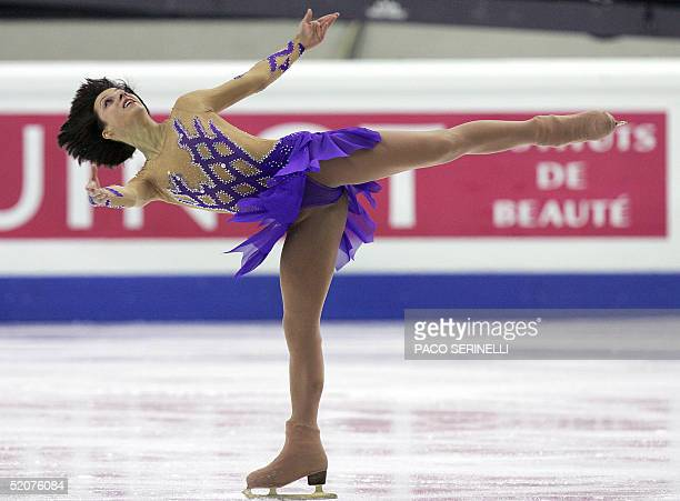 Elena Liashenko of Ukraine performs in the women's Short Program at the European Figure Skating Championships in Turin 28 January 2005. AFP...