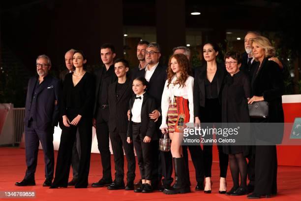 Elena Lietti, Andrea Fuorto, a guest, Carlotta De Leonardis, director Giuseppe Bonito, Sofia Fiore, Vanessa Scalera, Donatella Di Pietrantonio,...