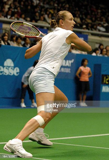 Elena Likhovtseva during WTA 2006 Toray Pan Pacific Open Singles Main Quarterfinal against Anastasia Myskina at Tokyo Metropolitan Gymnasium on 3rd...