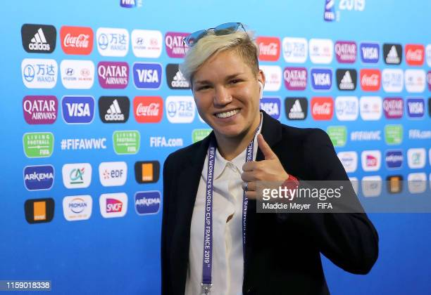Elena Linari of Italy arrives at the stadium prior to the 2019 FIFA Women's World Cup France Quarter Final match between Italy and Netherlands at...