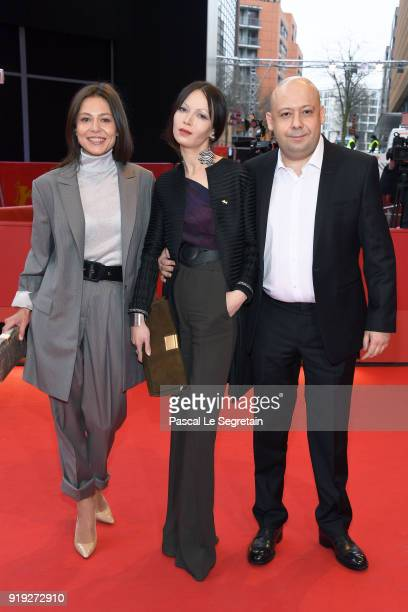 Elena Lyadova Elena Okopnaya and Alexey German attend the 'Dovlatov' premiere during the 68th Berlinale International Film Festival Berlin at...