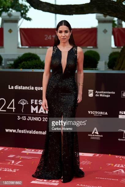 Elena Martinez attends '15 Horas' premiere during the 24th Malaga Film Festival at the Miramar Hotel on June 08, 2021 in Malaga, Spain.