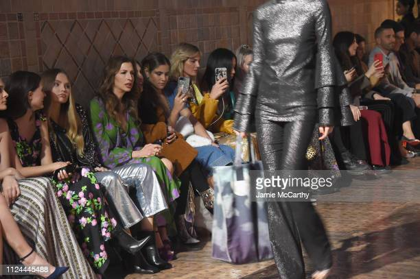 Elena Matei and Alysia Reiner attend the Cynthia Rowley front row during New York Fashion Week The Shows on February 12 2019 in New York City