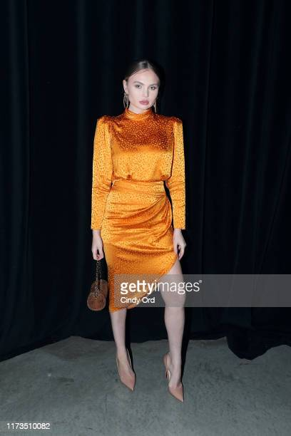 Elena Matei attends as DKNY turns 30 with special live performances by Halsey and The Martinez Brothers at St Ann's Warehouse on September 09 2019 in...