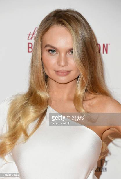 Elena Matei attends the 25th Annual Race To Erase MS Gala at The Beverly Hilton Hotel on April 20 2018 in Beverly Hills California