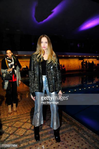 Elena Matei attends the Cynthia Rowley front row during New York Fashion Week The Shows on February 12 2019 in New York City