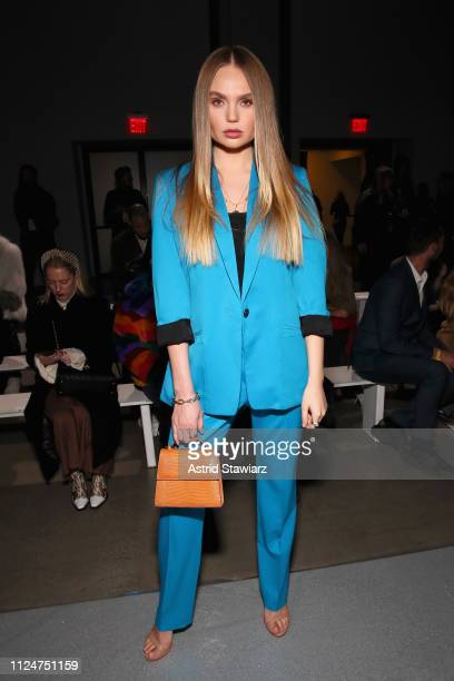Elena Matei attends the Rosa Cha front row during New York Fashion Week The Shows at Gallery I at Spring Studios on February 13 2019 in New York City