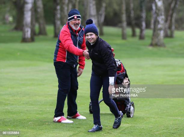 Elena Moosmann during practice for the Girls' U16 Open Championship at Fulford Golf Club on April 26 2018 in York England