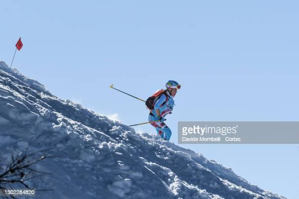 Elena Nicolini in action during Italian Team Ski Mountaineering Championships on February 14, 2021 in ALBOSAGGIA, Italy.
