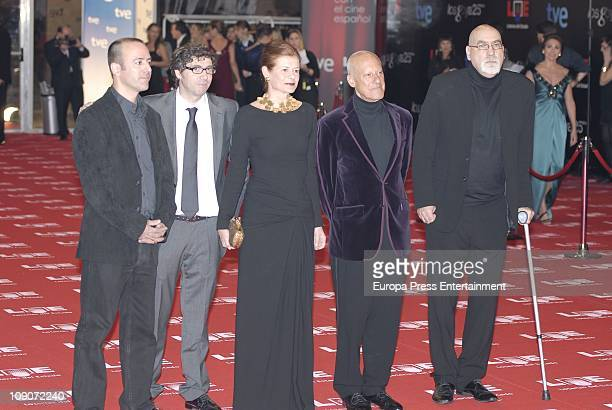 Elena Ochoa and Norman Foster arrive to the 2011 edition of the 'Goya Cinema Awards' ceremony at Teatro Real on February 13 2011 in Madrid Spain