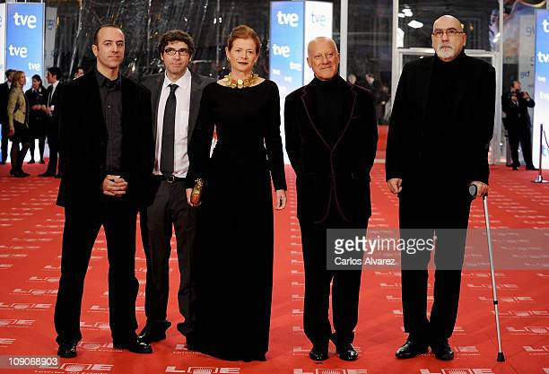 Elena Ochoa and Norman Foster arrives to the 2011 edition of the 'Goya Cinema Awards' ceremony at Teatro Real on February 13 2011 in Madrid Spain