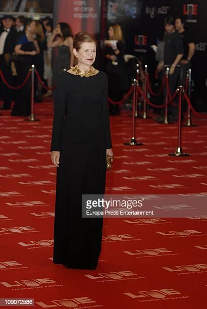 Elena Ochoa arrives to the 2011 edition of the 'Goya Cinema Awards' ceremony at Teatro Real on February 13 2011 in Madrid Spain