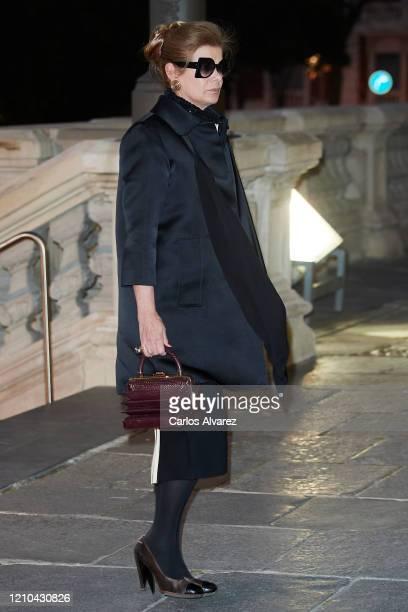 Elena Ochoa attends Placido Arango's Funeral at Los Jeronimos on March 04, 2020 in Madrid, Spain.