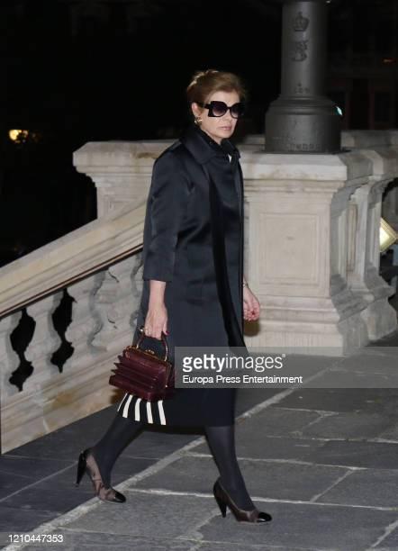 Elena Ochoa attends Placido Arango's mass funeral on March 04, 2020 in Madrid, Spain.