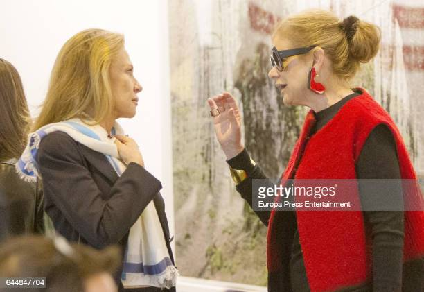 Elena Ochoa Foster and Alicia Koplowitz attend the International Contemporary Art Fair ARCO 2017 at Ifema on February 22 2017 in Madrid Spain