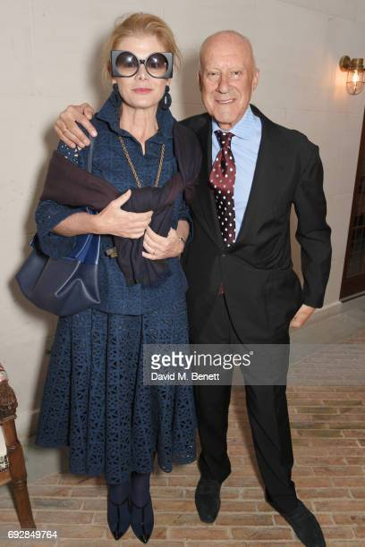 Elena Ochoa Foster and Lord Norman Foster attend the launch of new book 'Climate Of Hope' by Michael Bloomberg and Carl Pope at The Ned on June 5...