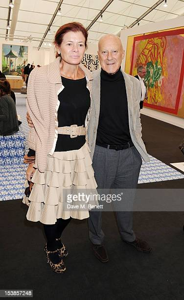 Elena Ochoa Foster and Norman Foster attend a VIP Preview of the Frieze Art Fair in Regent's Park on October 10 2012 in London England