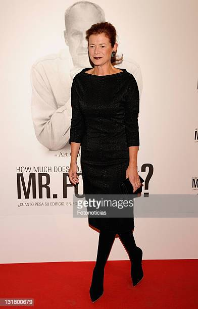 Elena Ochoa Foster attends 'How Much Does Your Building Weigh Mr Foster' premiere at the Verdi Cinema on October 5 2010 in Madrid Spain