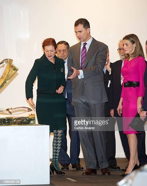 Elena Ochoa Prince Felipe of Spain and Princess Letizia of Spain attend the inauguration of ARCO Fair Arte 2012 at Ifema on February 16 2012 in...