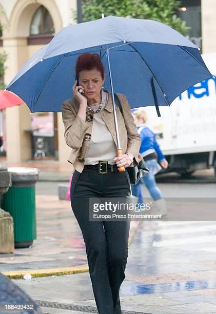 Elena Ochoa wife of Norman Foster is seen on May 9 2013 in Oviedo Spain